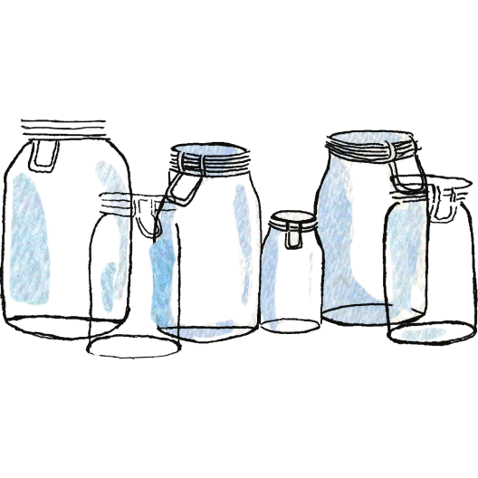 Empty jars illustration